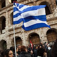 Manifestazione nazionale per la Grecia. Roma, 14.2.2015.