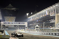 13.11.2011, Yas-Marina-Circuit, Abu Dhabi, UAE, Grosser Preis von Abu Dhabi, im Bild Pastor Maldonado (VEN) Williams GP - Sergio Perez (MEX) Sauber F1 Team  // during the Formula One Championships 2011 Large price of Abu Dhabi held at the Yas-Marina-Circuit, 2011/11/13. EXPA Pictures © 2011, PhotoCredit: EXPA/ nph/ Dieter Mathis..***** ATTENTION - OUT OF GER, CRO *****