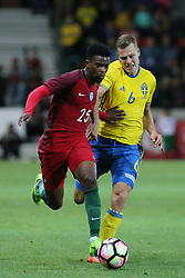 March 28, 2017 - Funchal, Madeira, Portugal - Portugals defender Nelson Semedo (L) and Viktor Claesson from Sweden (R) during the FIFA 2018 World Cup friendly match between Portugal v Sweden at Estadio dos Barreiros on March 28, 2017 in Funchal, Madeira, Portugal. (Credit Image: © Dpi/NurPhoto via ZUMA Press)