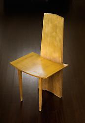 Hirohito oak and gold leaf chair by Bonetti & Garouste 1989