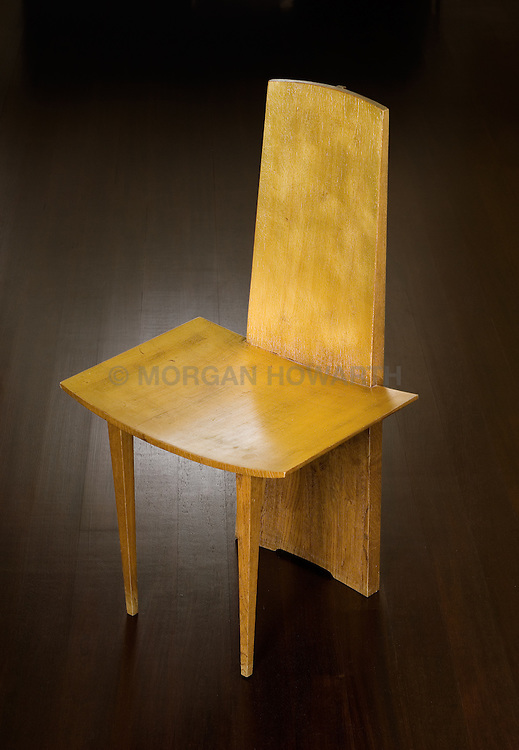Hirohito oak and gold leaf chair by Bonetti & Garouste 1989