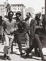 Black Panther March in San Francisco  California in late 60's to free Huey Newton.