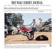Rodeo Clown Justin Rumford for The Wall Street Journal. May 19, 2015.