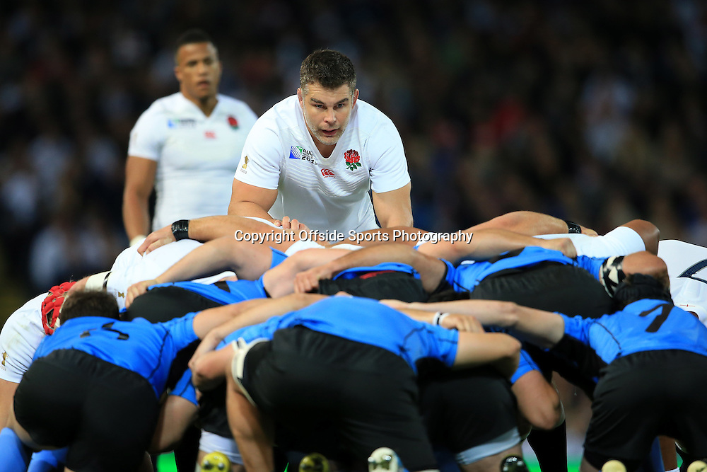 10th October 2015 - Rugby World Cup (Pool A) - England v Uruguay - Nick Easter of England stands at the back of the scrum - Photo: Simon Stacpoole / Offside.