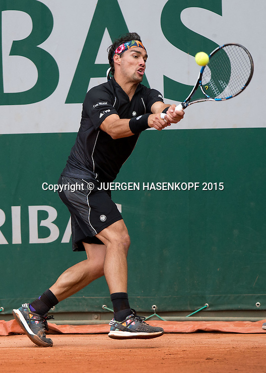 Fabio Fognini (ITA)<br /> <br /> Tennis - French Open 2015 - Grand Slam ITF / ATP / WTA -  Roland Garros - Paris -  - France  - 25 May 2015.