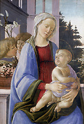 The Virgin and  Child with Angels' also known as 'The Virgin with the Pomegranate'.  Filippino Lippi (1457-1504) Italian painter