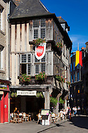Local color of Dinan, Cotes d'Armor department, Brittany, France