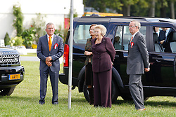 Queen Beatrix visiting Breda Hippique with Princesses Amalia and Ariana<br /> Also in the picture (r) Martin Van den Heuvel, president of the Royal Dutch Equestrian Federation, <br /> Breda Hippique 2010<br /> © Dirk Caremans