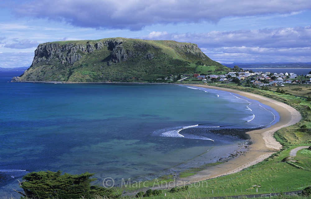 Mountain called The Nut and a beautiful beach, Stanley, Tasmania