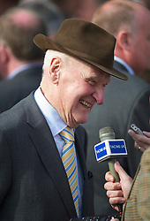 LIVERPOOL, ENGLAND, Saturday, April 9, 2011: Ginger McCain, father of winning trainer of Ballabriggs, Donald McCain after his son's horse Ballabriggs wins 2011 Grand National during Day Three of the Aintree Grand National Festival at Aintree Racecourse. (Photo by David Rawcliffe/Propaganda)