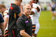 Bradford Bulls coach Geoff Toovey  during the Kingstone Press Championship match between Swinton Lions and Bradford Bulls at the Willows, Salford, United Kingdom on 20 August 2017. Photo by Simon Davies.