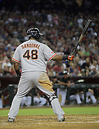 PHOENIX, AZ - JUNE 08:  Infielder Pablo Sandoval #48 of the San Francisco Giants at bat against the Arizona Diamondbacks at Chase Field on June 8, 2013 in Phoenix, Arizona. The Giants defeated the Diamondbacks 10-5.  (Photo by Jennifer Stewart/Getty Images) *** Local Caption *** ablo Sandoval