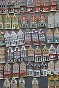 typical old Amsterdam house magnet souvenirs