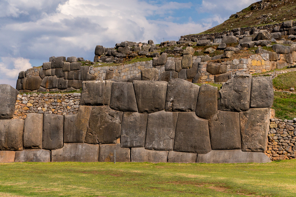 Saksaywaman is a citadel on the northern outskirts of the city of Cusco, Peru.  Cusco was the capital of the Inca Empire.