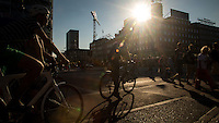 Copenhagen, Denmark- JULY 23, 2014: Bikes: an ever present sight in downtown Copenhagen. The city is often voted a top spot for cyclists and is known as one of the most liveable cities in the world. CREDIT: Chris Carmichael for The New York Times
