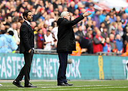 Crystal Palace Manager Alan Pardew and Watford Manager Quique Flores - Mandatory by-line: Robbie Stephenson/JMP - 24/04/2016 - FOOTBALL - Wembley Stadium - London, England - Crystal Palace v Watford - The Emirates FA Cup Semi-Final