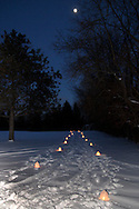 Under a moonlit sky, there were about 700 candles along the trails during the Holiday stroll and luminaria walk from Forest Field Park, through the meadows, and at the historic Smith home in Bill Yeck Park, Friday, December 17, 2010.