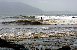 IRELAND KERRY DINGLE 3NOV05 - Surfers brave the waves in stormy weather near Anascaul on the Dingle Peninsula, Irelands most westerly county...jre/Photo by Jiri Rezac..© Jiri Rezac 2005..Contact: +44 (0) 7050 110 417.Mobile: +44 (0) 7801 337 683.Office: +44 (0) 20 8968 9635..Email: jiri@jirirezac.com.Web: www.jirirezac.com..© All images Jiri Rezac 2005 - All rights reserved.