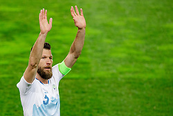Bostjan Cesar of Slovenia greets fans during friendly football match between National teams of Slovenia and Belarus, on March 27, 2018 in SRC Stozice, Ljubljana, Slovenia. Photo by Matic Klansek Velej / Sportida