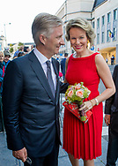 Brussels, 21-07-2017 <br /> <br /> <br /> King Filip and Queen Mathilde and their children attend a Te Deum at the Belgium National Day.<br /> <br /> <br /> COPYRIGHT: ROYALPORTRAITS <br /> EUROPE/ BERNARD RUEBSAMEN