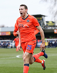 Murray Wallace of Millwall celebrates scoring to make it 0-1 - Mandatory by-line: Arron Gent/JMP - 16/02/2019 - FOOTBALL - Cherry Red Records Stadium - Kingston upon Thames, England - AFC Wimbledon v Millwall - Emirates FA Cup fifth round proper
