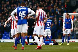 Trevoh Chalobah of Ipswich Town down injured  - Mandatory by-line: Phil Chaplin/JMP - 16/02/2019 - FOOTBALL - Portman Road - Ipswich, England - Ipswich Town v Stoke City - Sky Bet Championship
