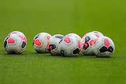 A general view of the matchday footballs inside Stamford Bridge Stadium prior to the Premier League match between Chelsea and Liverpool at Stamford Bridge, London, England on 22 September 2019.