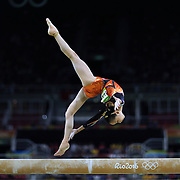 Gymnastics - Olympics: Day 10  Yilin Fan #323 of China performing her routine in the Women's Balance Beam Final during the Artistic Gymnastics competition at the Rio Olympic Arena on August 15, 2016 in Rio de Janeiro, Brazil. (Photo by Tim Clayton/Corbis via Getty Images)