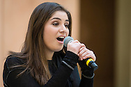 "Town of Wallkill, New York -  A Port Jervis High School student sings a song from ""Into the Woods"" during the Orange County Arts Council's All-County High School Musical Showcase and Arts Display at the Galleria at Crystal Run on Feb. 27, 2016."