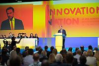 DEU, Deutschland, Germany, Berlin,12.05.2018: FDP-Parteichef Christian Lindner beim 69. Bundesparteitag der Freien Demokratischen Partei (FDP) in der Station.