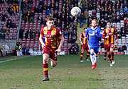 Seamus McCartan of Bradford City during the EFL Sky Bet League 1 match between Bradford City and Gillingham at the Northern Commercials Stadium, Bradford, England on 24 March 2018. Picture by Paul Thompson.