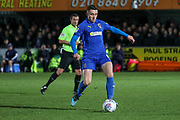 AFC Wimbledon midfielder Anthony Hartigan (8) passing the ball during the EFL Sky Bet League 1 match between AFC Wimbledon and Ipswich Town at the Cherry Red Records Stadium, Kingston, England on 11 February 2020.