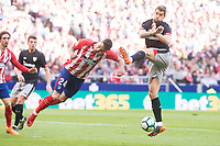 Atletico de Madrid Jose Maria Gimenez and Athletic Club Inigo Martinez during La Liga match between Atletico de Madrid and Athletic Club and Wanda Metropolitano in Madrid , Spain. February 18, 2018. (ALTERPHOTOS/Borja B.Hojas)