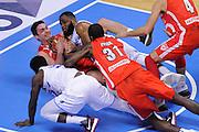 Danny Agbelese Kristjan Kangur Christian Eyenga<br /> Enel New Basket Brindisi - Openjobmetis Pallacanestro Varese<br /> Lega Basket Serie A 2016/2017<br /> Brindisi 12/02/2017<br /> Foto Ciamillo-Castoria