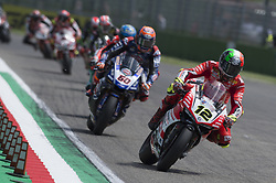 May 13, 2018 - Imola, Italy, Italy - 12 Xavi Fores ESP Ducati Panigale R Barni Racing Team during the Motul FIM Superbike Championship - Italian Round  race 2 during the World Superbikes - Race at Enzo & Dino Ferrari Circuit on May 13, 2018 in Imola, Italy. (Credit Image: © Fabio Averna/NurPhoto via ZUMA Press)