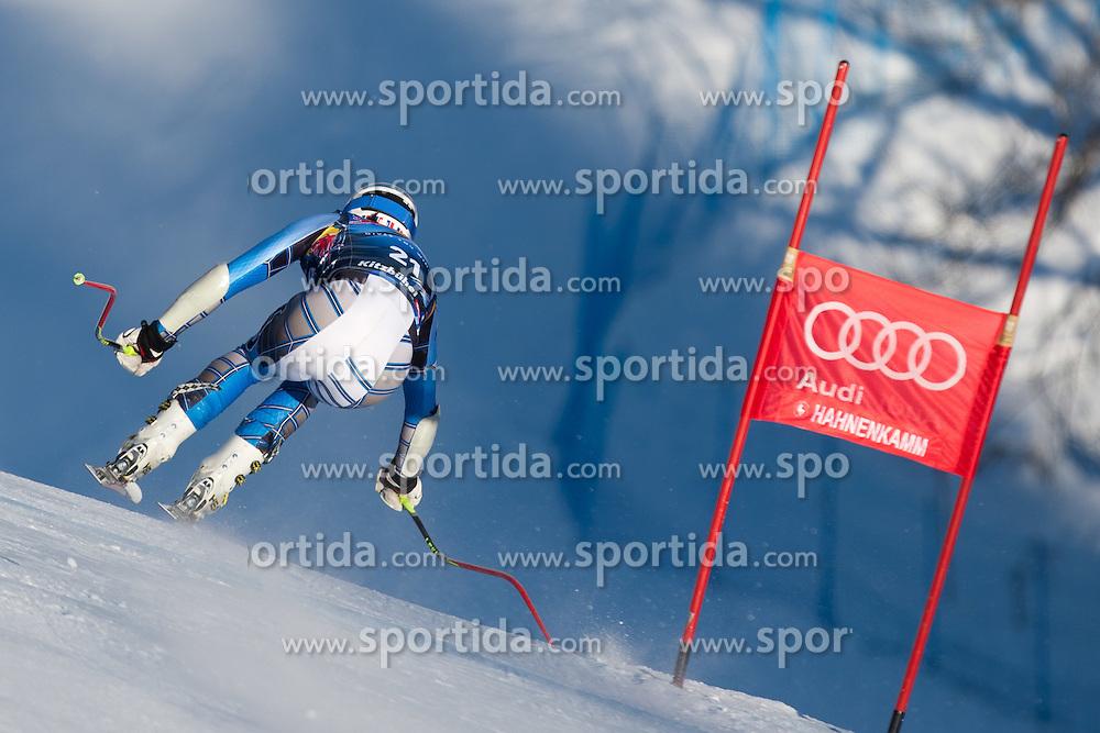18.01.2012, Hahnenkamm, Kitzbuehel, AUT, FIS Weltcup Ski Alpin, 72. Hahnenkammrennen, Herren, Abfahrt 2. Training, im Bild Bode Miller (USA) // Bode Miller of USA during Downhill 2nd practice of 72th Hahnenkammrace of FIS Ski Alpine World Cup at 'Streif' course in Kitzbuhel, Austria on 2012/01/18. EXPA Pictures © 2012, PhotoCredit: EXPA/ Johann Groder