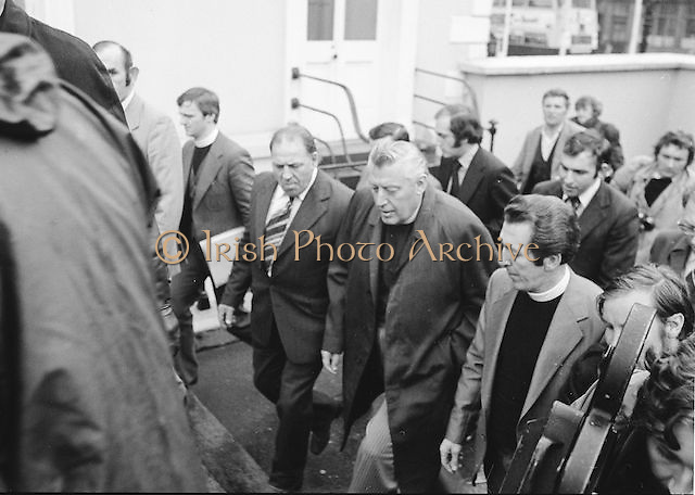 Some of the attendance at the Mansion House, Dublin during Dr Ian Paisley's prayer meeting. 24th September, 1978..Lensmen/ Examiner Commissioned ..
