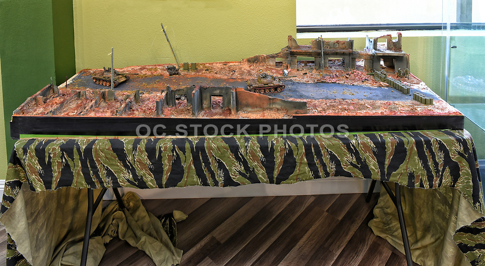 Battle Diorama at the Vietnam War Memorial in Westminster