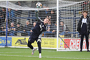 AFC Wimbledon goalkeeper Joe McDonnell (24) warming up during the The FA Cup match between AFC Wimbledon and Lincoln City at the Cherry Red Records Stadium, Kingston, England on 4 November 2017. Photo by Matthew Redman.