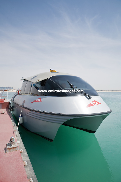 Water taxi in Dubai run by the RTA. This service can be booked from dozens of water taxi stops from Jebel Ali to Dubai Creek, taking in major hotels along the Dubai coastline and Palm Jumeirah.