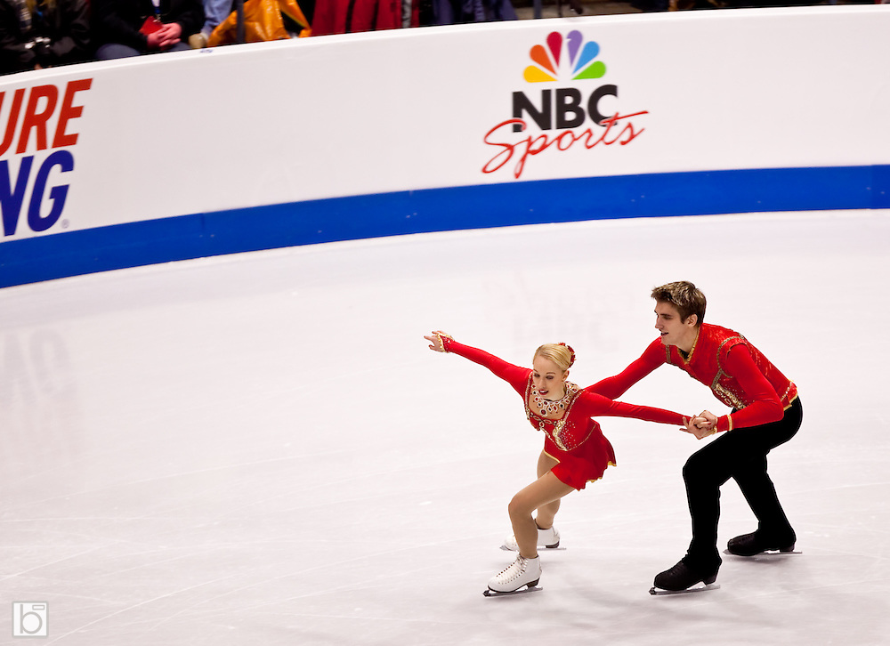 Nov 14, 2009: Stacey Kemp and David King of Great Britian compete in the Pairs Free Skate competition at Skate America 2009 at the Herb Brooks Arena in Lake Placid, N.Y. (ORDA Photo /Todd Bissonette)