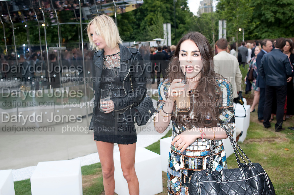 SOPHIA HESKETH; TALLULAH ORMSBY-GORE, 2009 Serpentine Gallery Summer party. Sponsored by Canvas TV. Serpentine Gallery Pavilion designed by Kazuyo Sejima and Ryue Nishizawa of SANAA. Kensington Gdns. London. 9 July 2009.