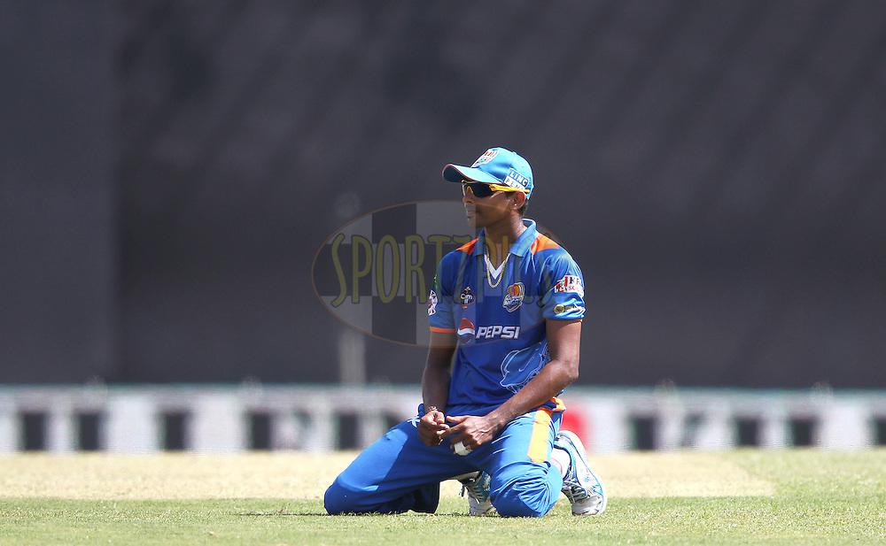 Suraj Randiv of Nagenahira Nagas during match 19 of the Sri Lankan Premier League between Uthura Rudras and Nagenahiras held at the Premadasa Stadium in Colombo, Sri Lanka on the 26th August 2012. .Photo by Shaun Roy/SPORTZPICS/SLPL