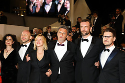 Producer Tanya Seghatchian, actor Borys Szyc, actress Joanna Kulig,producer Ewa Puszczynska, actor Tomasz Kot and guest (R) attend the screening of 'Cold War (Zimna Wojna)' during the 71st annual Cannes Film Festival at Palais des Festivals on May 10, 2018 in Cannes, France. Photo by David Boyer/ABACAPRESS.COM
