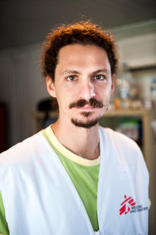 MSF doctor Grigoris Grivas at the medical centre in Kara Tepe camp.