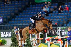 DREHER Hans-Dieter (GER), Prinz<br /> Stuttgart - German Masters 2019<br /> Preis der Bardusch GmbH & Co.KG Textil-Mietdienste<br /> 2-Phasenspringen<br /> Int. Springprüfung CSI 5*-W<br /> 14. November 2019<br /> © www.sportfotos-lafrentz.de/Stefan Lafrentz