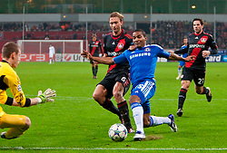 23.11.2011, BayArena, Leverkusen, Germany, UEFA CL, Gruppe E, Bayer 04 Leverkusen (GER) vs Chelsea FC (ENG), im Bild Chelsea's Florent Malouda in action against Bayer Leverkusen during the football match of UEFA Champions league, group E, between Bayer Leverkusen (GER) and FC Chelsea (ENG) at BayArena, Leverkusen, Germany on 2011/11/23. EXPA Pictures © 2011, PhotoCredit: EXPA/ Sportida/ David Tickle..***** ATTENTION - OUT OF ENG, GBR, UK *****