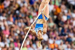 August 9, 2018 - Berlin, GERMANY - 180809 Nikoleta Kyriakopoulou of Greece competes in the women's pole vault final during the European Athletics Championships on August 9, 2018 in Berlin..Photo: Vegard Wivestad GrÂ¿tt / BILDBYRN / kod VG / 170199 (Credit Image: © Vegard Wivestad Gr¯Tt/Bildbyran via ZUMA Press)