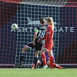 FFC Frankfurt's Kerstin Garefrekes scores a goal. - Photo mandatory by-line: Dougie Allward/JMP - Mobile: 07966 386802 - 21/03/2015 - SPORT - Football - Bristol - Ashton Gate Stadium - Bristol Academy v FFC Frankfurt - UEFA Women's Champions League - Quarter Final - First Leg
