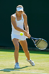 LONDON, ENGLAND - Monday, June 29, 2009: Valeria Solovieva (RUS) during the Girls' Singles 1st Round on day seven of the Wimbledon Lawn Tennis Championships at the All England Lawn Tennis and Croquet Club. (Pic by David Rawcliffe/Propaganda)